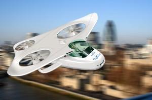 Is it a bird?  Is it a plane?  No… it's a flying car!