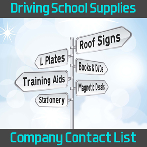 Driving School Supplies, Roof Signs & Accessories